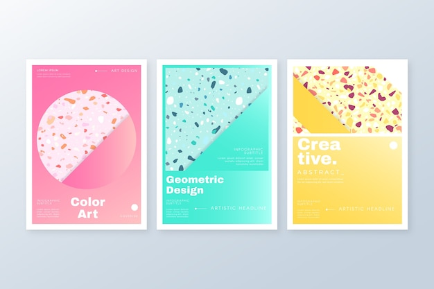 Abstract colorful covers collection