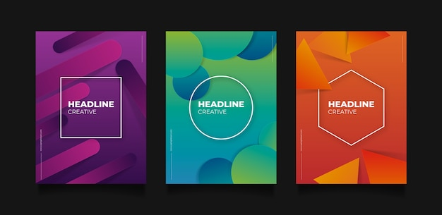 Abstract colorful covers concept