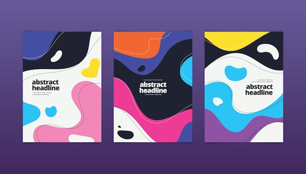 Abstract colorful covers set