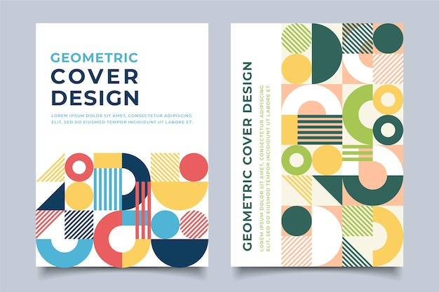 Abstract colorful covers template concept