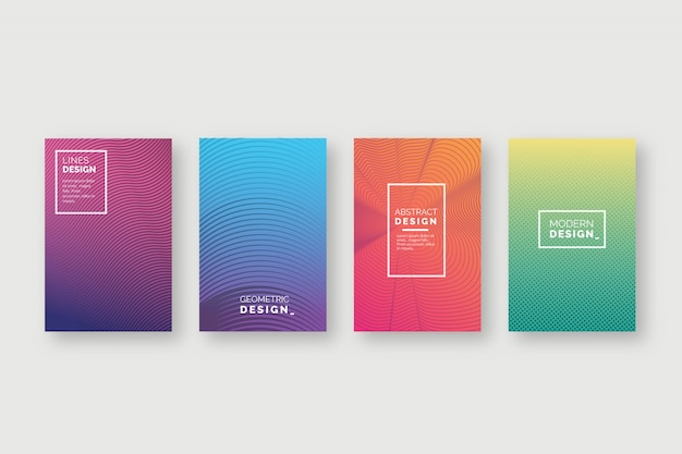 Abstract colorful covers