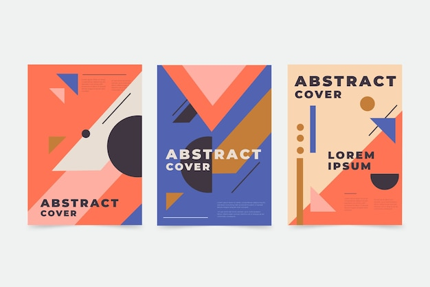 Абстрактные красочные обложки
