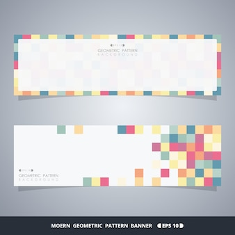 Abstract colorful cube banners of modern decoration concept