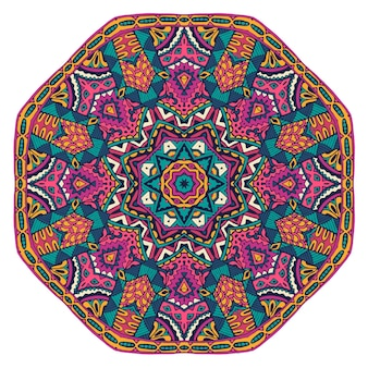 추상 화려한 장식 메달 패턴 꽃 패턴 벡터 boho 만다라