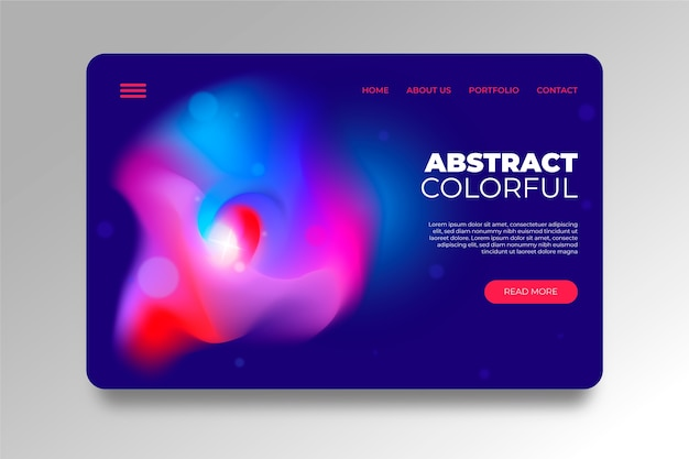 Abstract colorful delusion landing page