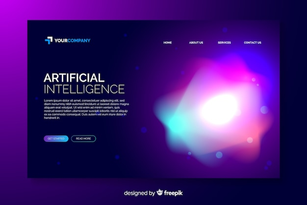Abstract colorful delusion template landing page