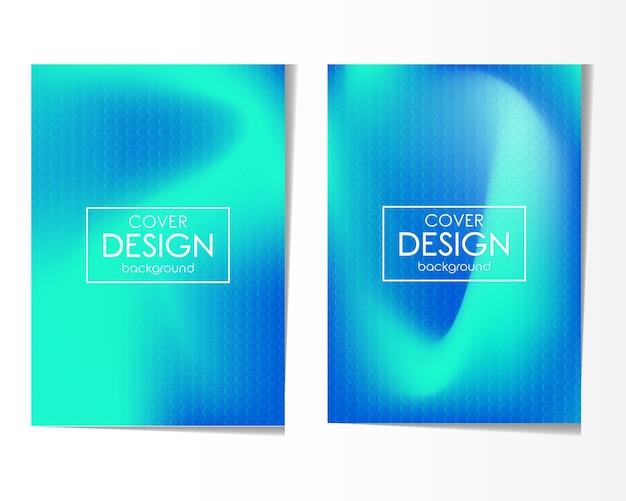 Абстрактный красочный дизайн обложки фона набор
