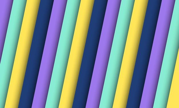 抽象的なカラフルな斜めの縞模様の背景。あなたのビジネスに最適なスマートなデザイン。
