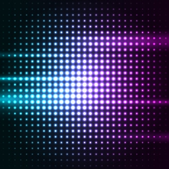 Abstract colorful dots led lights background