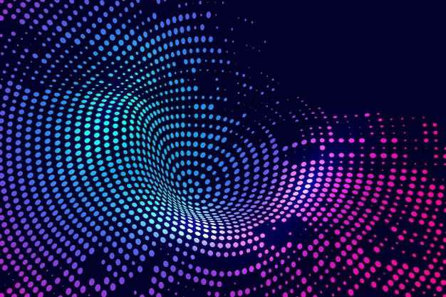 Abstract colorful dotted technology background
