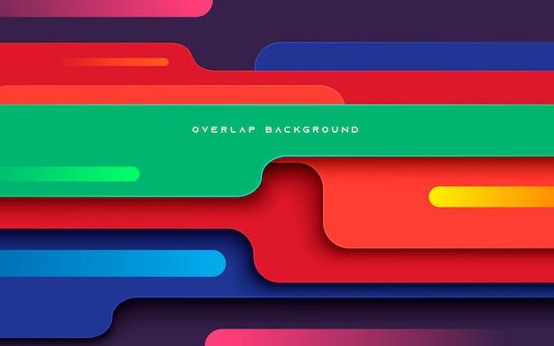 추상 다채로운 동적 차원 레이어 배경