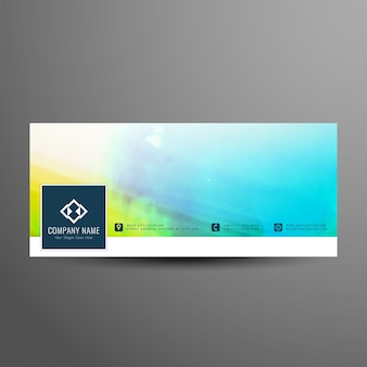 Абстрактные красочные facebook баннер дизайн