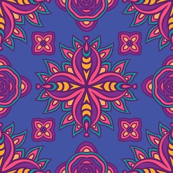 Абстрактный красочный праздничный этнический геометрический племенной узор