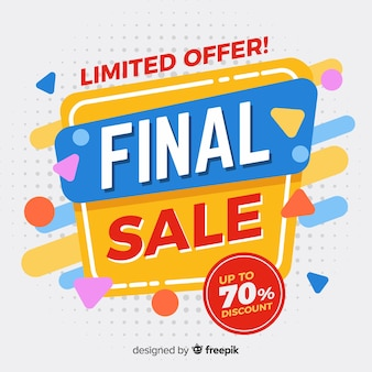 Abstract colorful final sale design