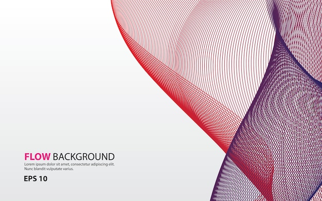 Abstract colorful flow background vector