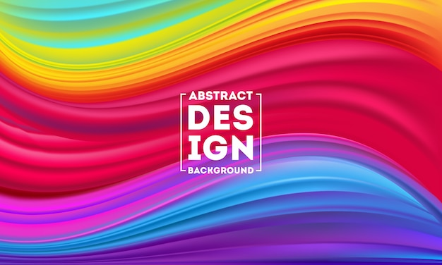 抽象的なカラフルなフローポスターデザインテンプレート、ダイナミックカラーフローベクトル、カラーメッシュの背景、デザインプロジェクトのアートデザイン。ベクトルイラストeps10
