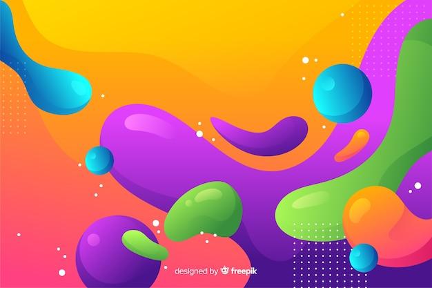 Абстрактный красочный поток формирует дизайн фона