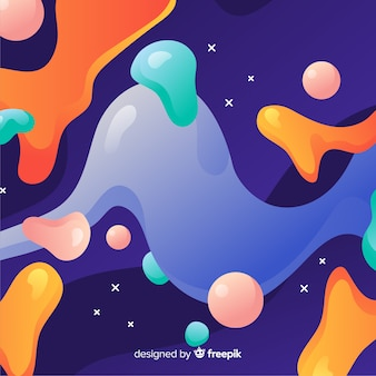 Abstract colorful flow shapes background design