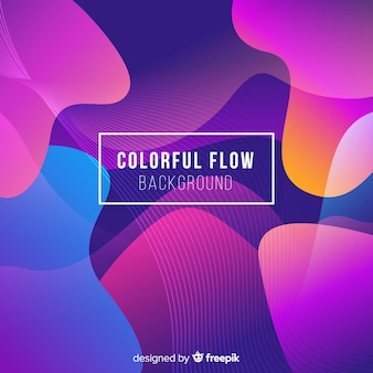 Abstract colorful flow shapes background