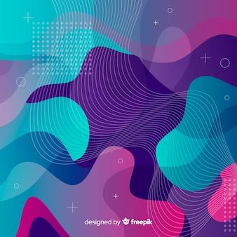 Абстрактный красочный поток формирует фон