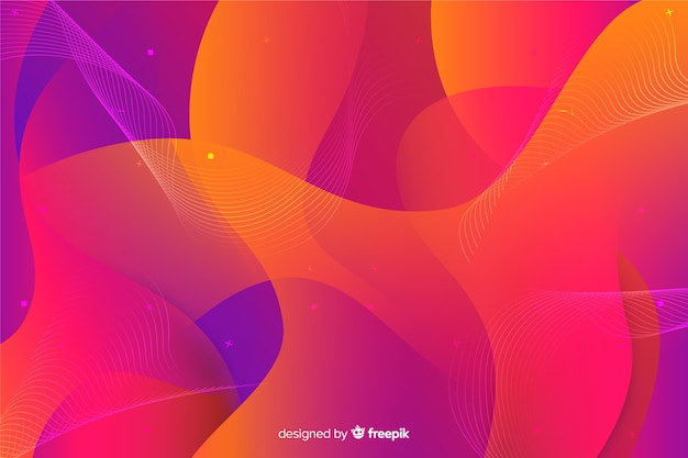 Abstract colorful flowing shapes background