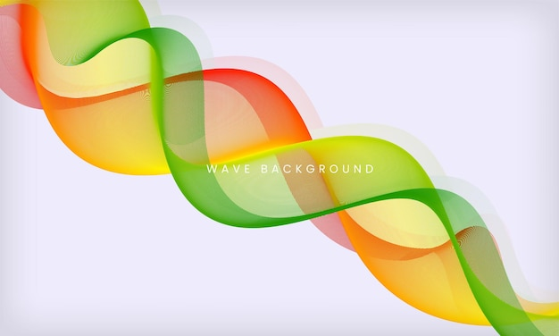 Abstract colorful flowing wave background modern motion smooth design template