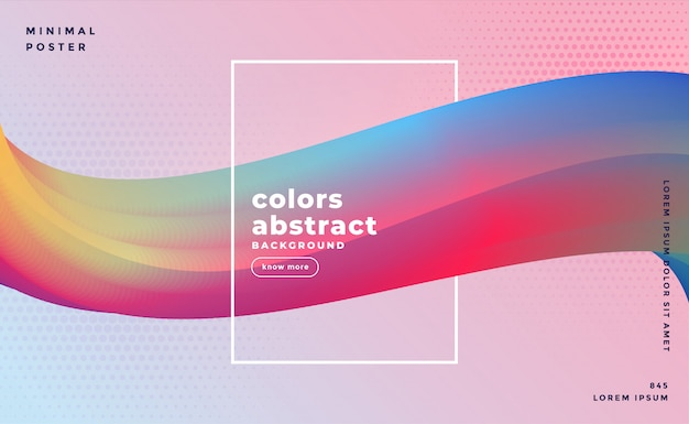 Abstract colorful  flowing wave background  template