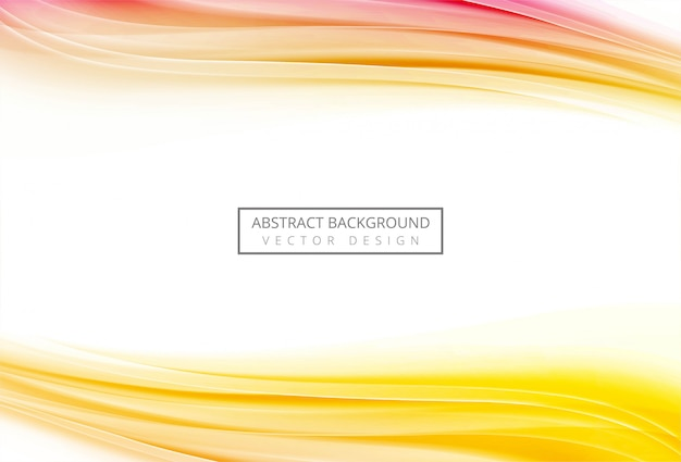 Abstract colorful flowing wave background