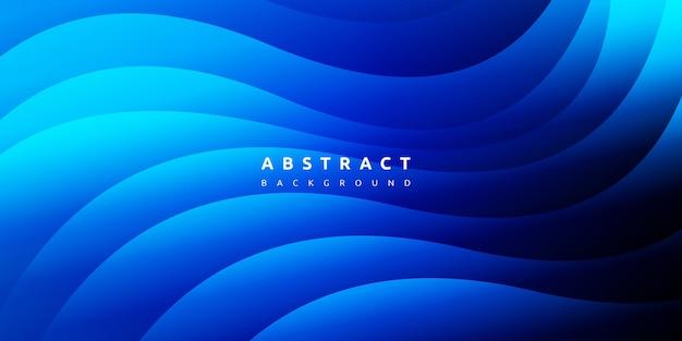 Абстрактный красочный жидкий синий фон кривой