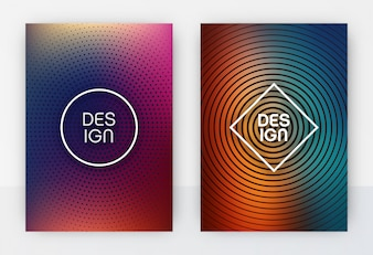Abstract colorful flyer template set