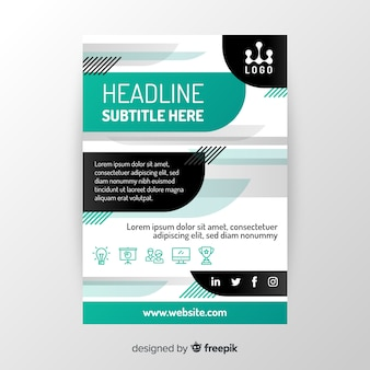 Abstract colorful flyer template