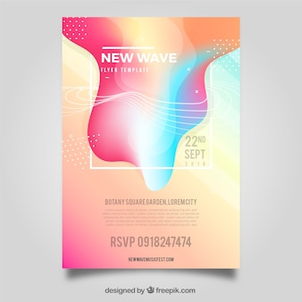 Abstract colorful flyer