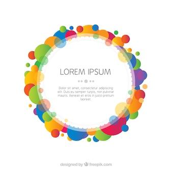 Cornice colorata astratta con forme geometriche