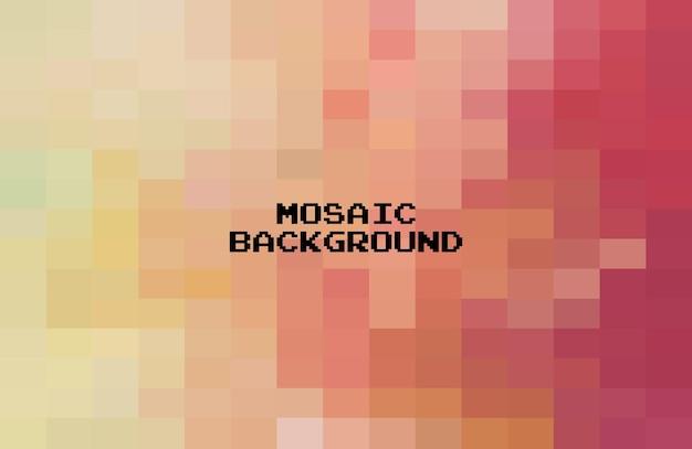 Абстрактный красочный геометрический фон, пиксельная мозаика сетки, 8-битный фон.