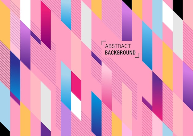 Abstract colorful geometric background with line stripe