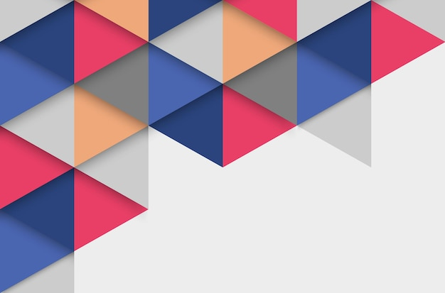 三角形と抽象的なカラフルな幾何学的な背景