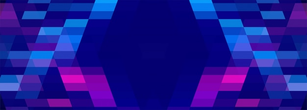 Abstract colorful geometric banner background