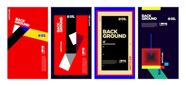 Abstract colorful geometric cover collection