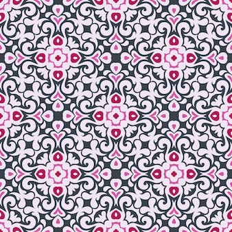 ファブリックや壁紙の装飾的な抽象的なカラフルな幾何学的なエスニックタイルシームレスパターン