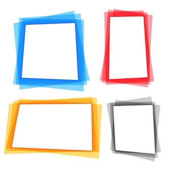 Abstract colorful geometric frame borders set