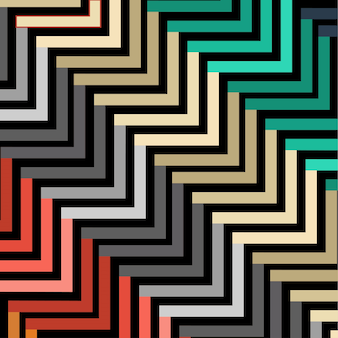 Abstract colorful geometric pattern step style