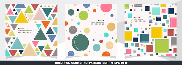 Abstract of colorful geometric pattern