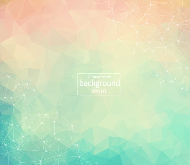 Abstract colorful geometric polygonal background molecule and communication.