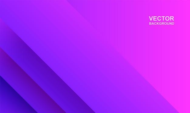 概要。カラフルな幾何学的な形の青紫の重なり合う背景。光と影。ベクター。