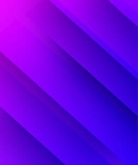 요약. 다채로운 기하학적 모양 파란색 보라색 중복 배경. 빛과 그림자.