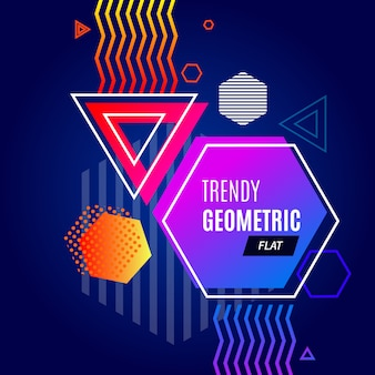 Abstract colorful geometric template