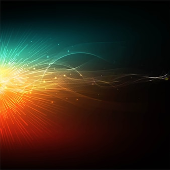 Abstract colorful glowing wave background vector