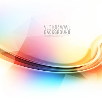 Abstract colorful glowing wave background