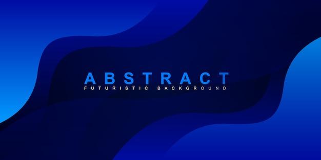 Абстрактный красочный градиент синий фон кривой