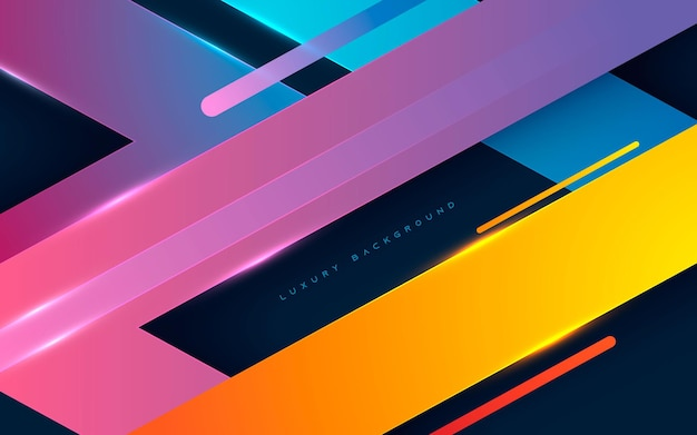 Abstract colorful gradient dimension  layers background
